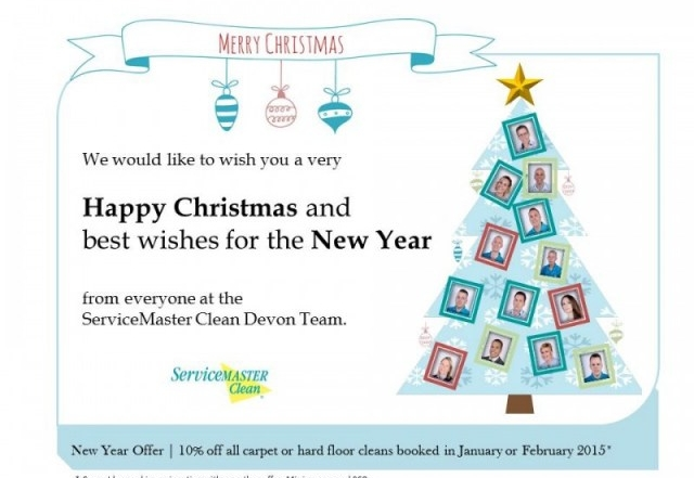 A Very Happy Christmas to all our customers - ServiceMaster Clean Devon Offer