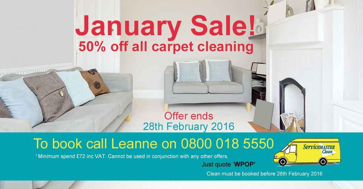 Half price carpet cleaning offer