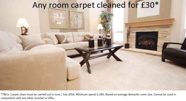 Summer Offer Carpet Cleaned £30 per room