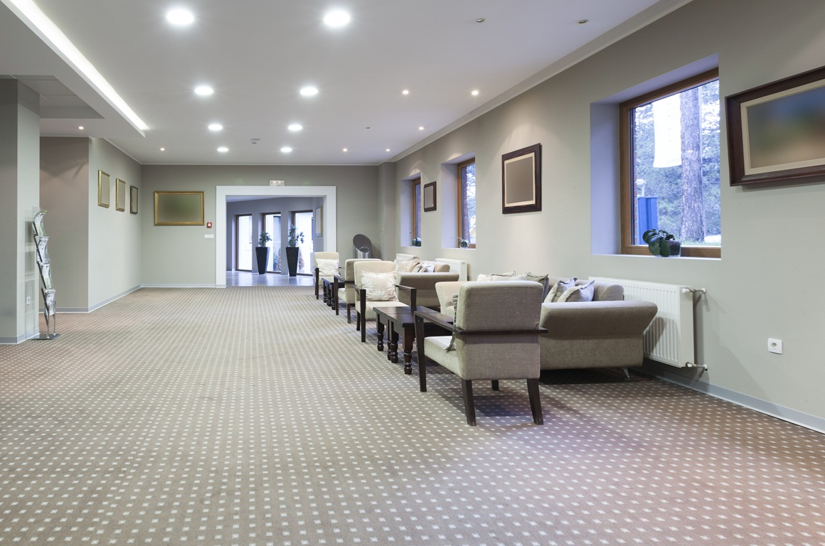 Hotel lobby carpet cleaning by ServiceMaster Clean Devon