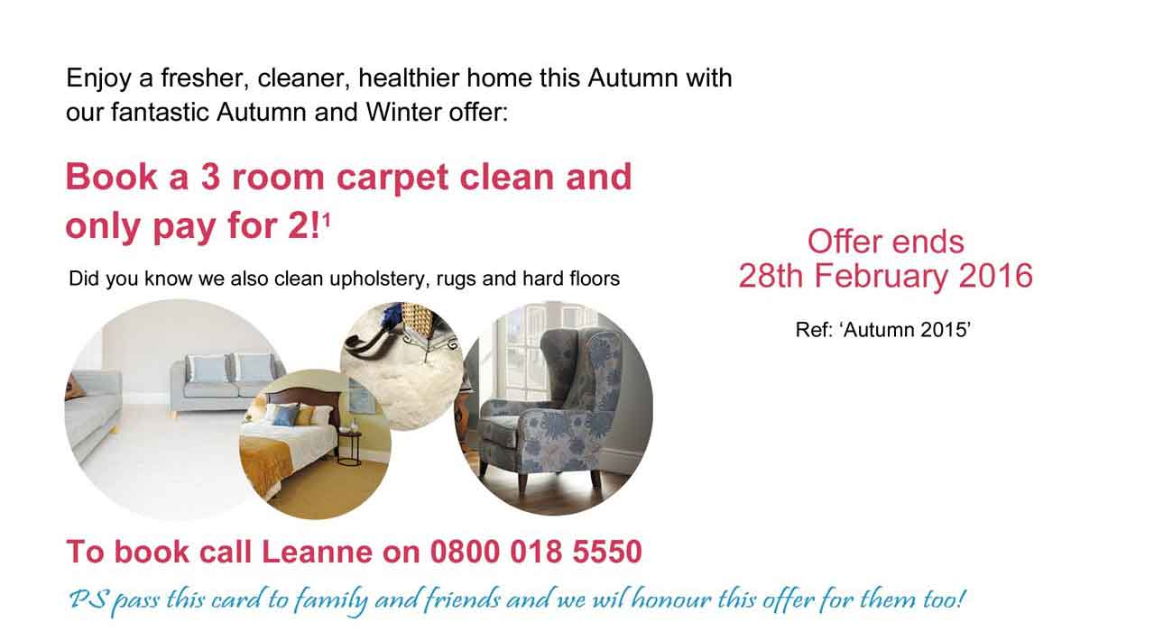3 for 2 Carpet Cleaning Offer