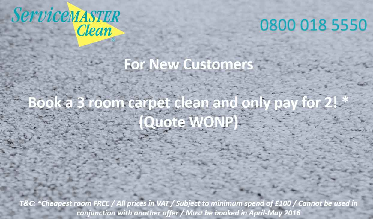 3 Room Carpet Clean Offer Torbay Exeter Devon