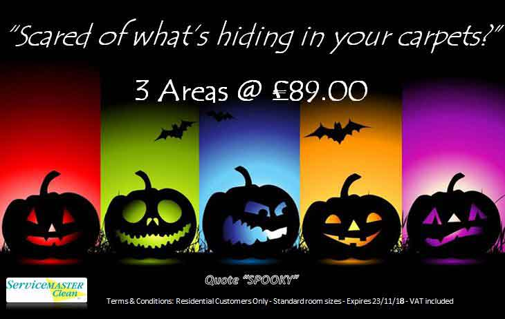 HALLOWEEN carpet-cleaning offer in Torquay Exeter 2018
