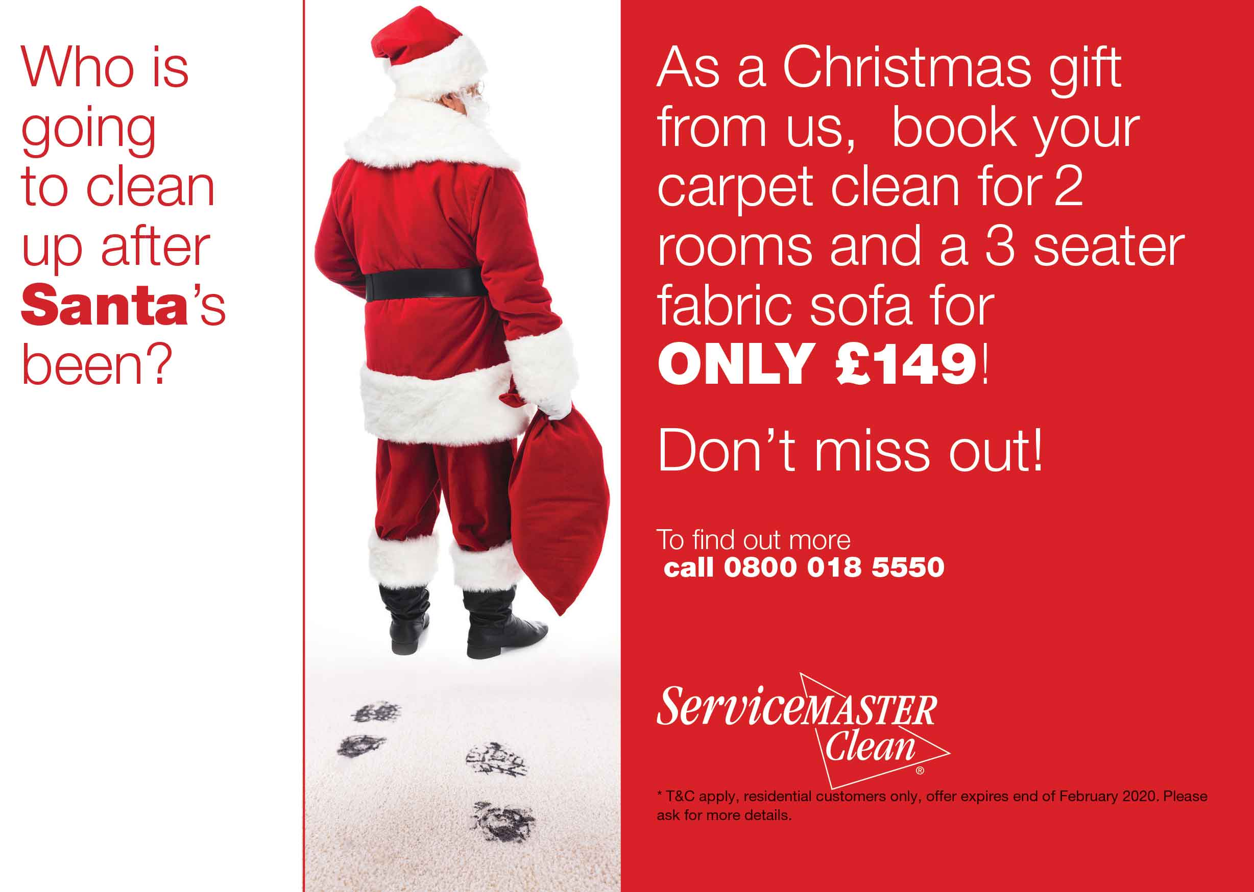 Christmas Carpet Upholstery Cleaning Offer